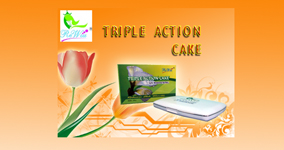 Triple action cake